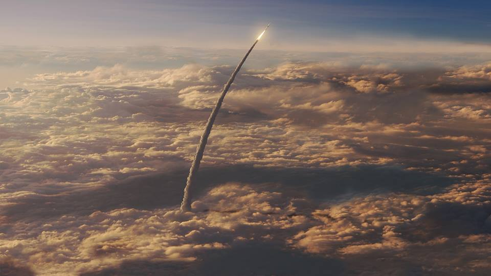 NASA: Artist impression of the SLS Launch, bound for Mars (dhitt)